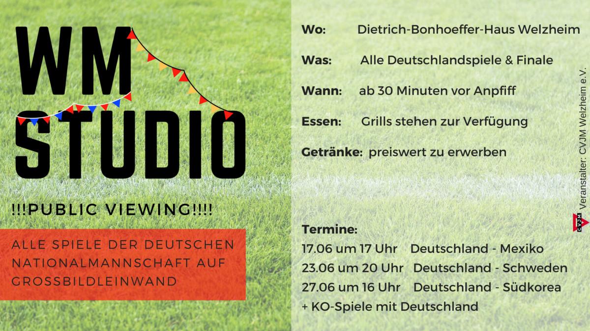 Einladung zum WM-Studio im DBH – CVJM Welzheim
